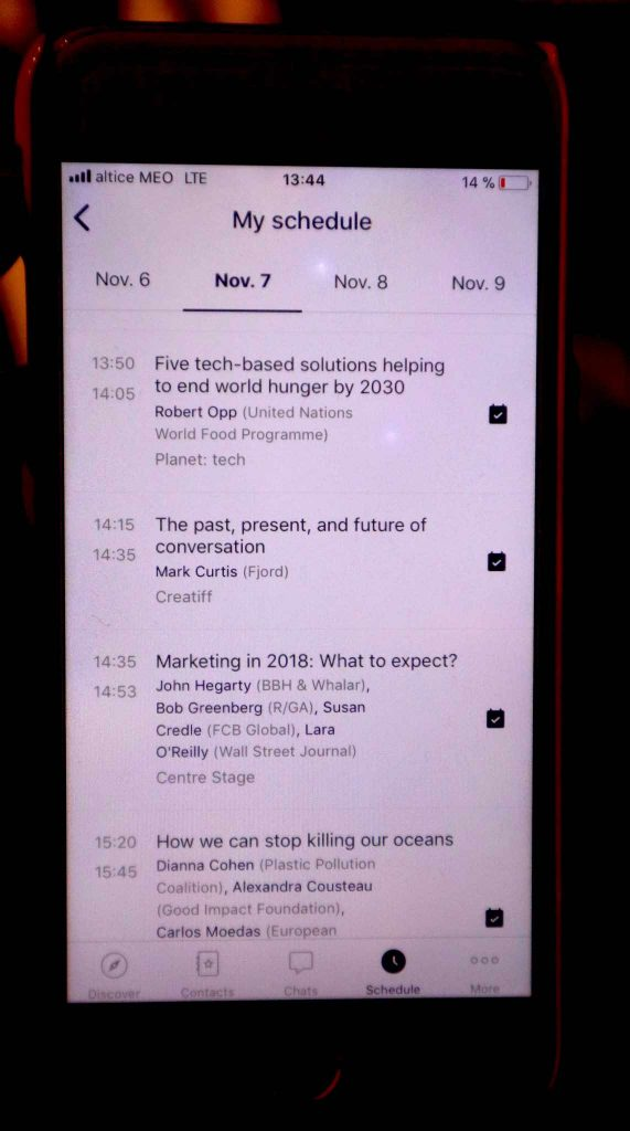 Tight Schedule at WebSummit 2017 in Lisbon
